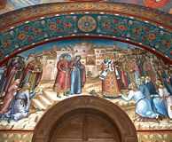 Church wall painting Royalty Free Stock Image
