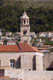 Church in the Walled City of Dubrovnic in Croatia Europe. Dubrovnik is nicknamed `Pearl of the Adriatic. Dubrovnik is one of the most beautiful towns in the Stock Images