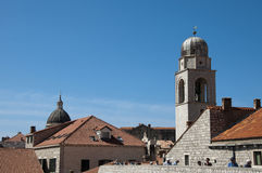 Church in the Walled City of Dubrovnic in Croatia Europe. Dubrovnik is nicknamed `Pearl of the Adriatic. Dubrovnik is one of the most beautiful towns in the Royalty Free Stock Images
