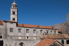 Church in the Walled City of Dubrovnic in Croatia Europe. Dubrovnik is nicknamed `Pearl of the Adriatic. Dubrovnik is one of the most beautiful towns in the Stock Image