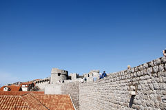 Church in the Walled City of Dubrovnic in Croatia Europe. Dubrovnik is nicknamed `Pearl of the Adriatic. Dubrovnik is one of the most beautiful towns in the Royalty Free Stock Photos
