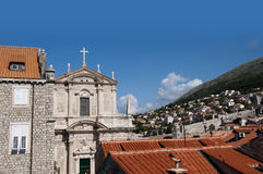 Church in the Walled City of Dubrovnic in Croatia Europe. Dubrovnik is nicknamed `Pearl of the Adriatic. Dubrovnik is one of the most beautiful towns in the Royalty Free Stock Photo