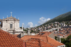 Church in the Walled City of Dubrovnic in Croatia Europe. Dubrovnik is nicknamed `Pearl of the Adriatic. Dubrovnik is one of the most beautiful towns in the Stock Photo
