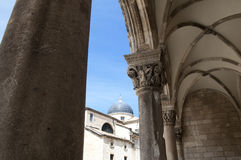 Church in the walled city of Dubrovnic in Croatia Stock Photography