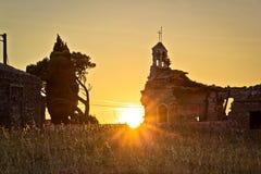 Church war ruins sunset  in Zadar Royalty Free Stock Photos