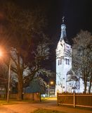 Lutheran church in Dubulti, Jurmala, Latvia Royalty Free Stock Photo