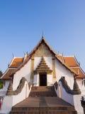 Church of Wat Phu Mintr under blue sky Stock Image