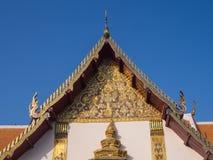 Church of Wat Phu Mintr under blue sky Royalty Free Stock Photos