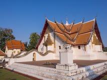Church of Wat Phu Mintr under blue sky Royalty Free Stock Photo