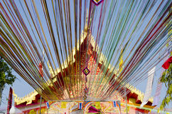 Church wat Thai. Wat Pralaothepnimit, Phana Amnatcharoen Thailand. It super colourful royalty free stock photos
