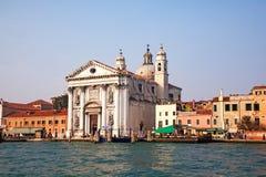 Church at the waterfront, Chiesa Dei Gesuati O Santa Maria Del R Royalty Free Stock Images