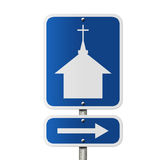Church this way Stock Photography