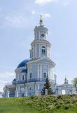 A church on the way to Novosibirsk from Irkutsk Royalty Free Stock Photography