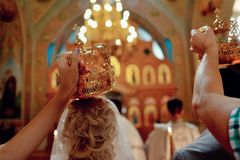 Church wedding crown Stock Photos