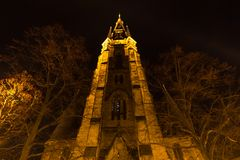 Church in wernigerode germany at night. A church in wernigerode germany at night Royalty Free Stock Photo