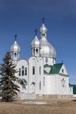 Church. White orthodox church with a clear blue sky Stock Image