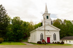 Church. A white church in a small New York town Stock Photography