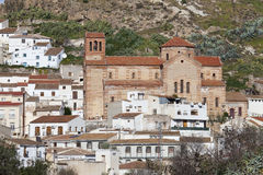 Church and white village in Andalusia Royalty Free Stock Images