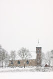 Church in a white winter landscape Stock Image