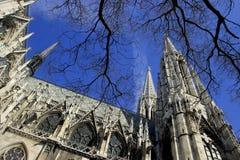 Church in Wien. Votivkirche. Church in Wien - Votivkirche. Gothic church Royalty Free Stock Image