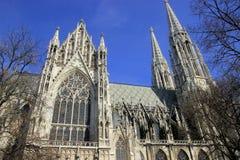 Church in Wien. Votivkirche. Winter. Gothic church in Wien - Votivkirche Royalty Free Stock Photography