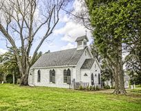 Church in the Wildwood. Colonial area church in rural Virginia Royalty Free Stock Images