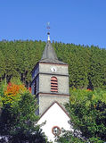 Church in Willingen in the Sauerland region Germany Stock Images