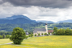 Church in Wilparting Bavaria Royalty Free Stock Photos