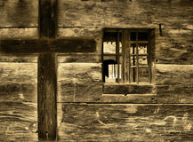 Church window. A church wall with a cross Stock Photo