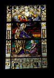 Church Window. Artwork on the stained glass window of a church Royalty Free Stock Photos