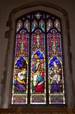 Church window. Stain glass window at dedham church suffolk Royalty Free Stock Image