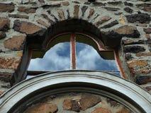 Church window. Blue sky in a window Stock Photo