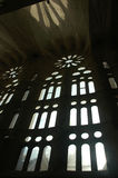 Church window. Sagrada Familia, Barcelona Stock Photography