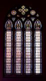 Church window. Inside church stained glass window royalty free stock photo