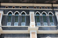 Church window. Beautiful church window in Thailand Royalty Free Stock Photo