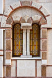 Church Window Detail. Window of Sveti Nikolai orthodox church in Sozopol, Bulgaria Royalty Free Stock Images