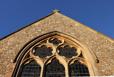 Church window  detail with clock Stock Photography