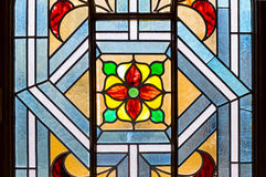 Church window. Medieval church window with colorful glass Stock Images