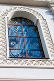 Church window in Minsk. With stained glass royalty free stock photography