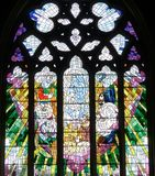 Church Window in Saint David's Cathedral Hobart, Tasmania Royalty Free Stock Images