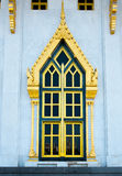 Church window. Sothon in daytime Royalty Free Stock Photos