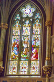 Church window in St. John the Baptist in Savannah Royalty Free Stock Images