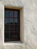 Church window, stucco wall Royalty Free Stock Images