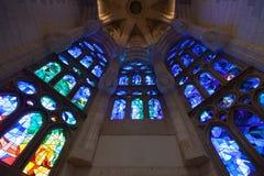 Church windows interior Stock Images