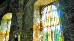 Church Windows Time lapse. A 29-second time lapse of an old church windows with the sun rays moving stock video