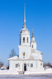 Church in the winter Royalty Free Stock Images