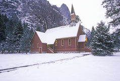 Church in Winter Stock Photography