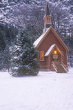 Church in Winter. In  Yosemite Valley, California Royalty Free Stock Photography