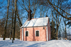 Church in winter Stock Photo