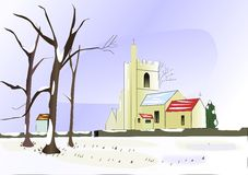 Church in Winter Royalty Free Stock Photos